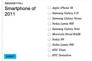 Nokia N9, Nokia Lumia 800 and Nokia Lumia 900 nominated at Engadget Awards, Smartphone of 2011