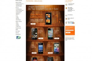 Nokia Lumia 800 on Orange Austria&#8217;s Best Seller page