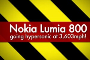 Weekend Watch: Nokia Lumia blasted with 3603mph/MACH 5 Wind