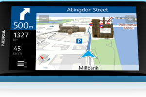 Nokia Drive on my Nokia Lumia 800 trouncing dedicated Sat Nav (TomTom)