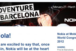 Hola! Nokia MWC Mail: &#8220;Nokia Adventure in Barcelona!&#8221;