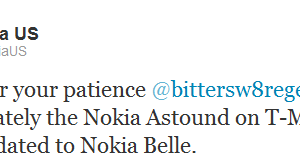 No Belle for Nokia Astound :'(