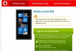 Nokia Lumia 800 sold out in Ireland?