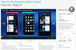 Vote for Nokia N9 Swipe UI at IXDA interaction awards