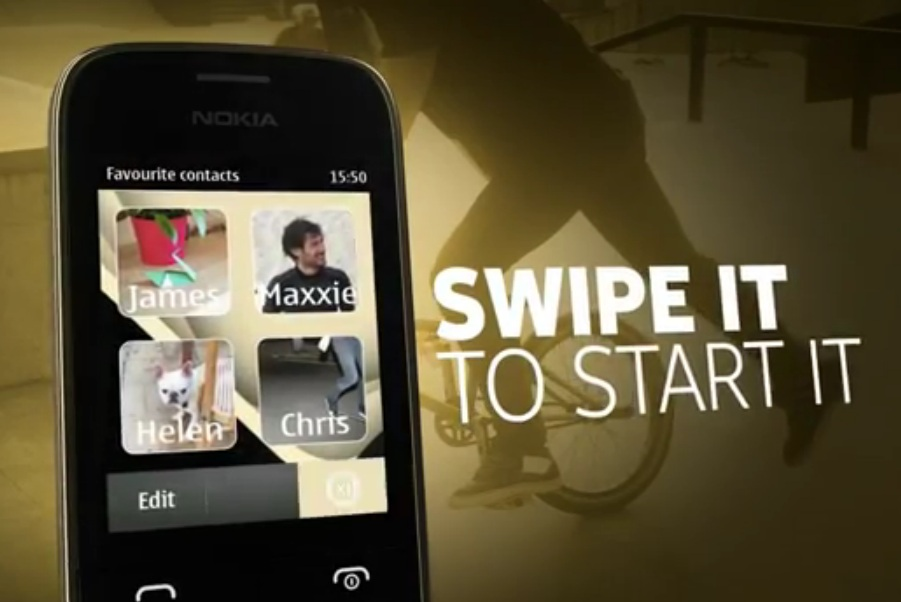 ... kB · jpeg, Videos: Nokia Asha 202 and Nokia 203 – Swipe it to start