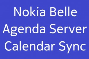 Minor update for Nokia Belle?Agenda Server for Calendar Sync? Update: Lotus Notes Traveler Calendar