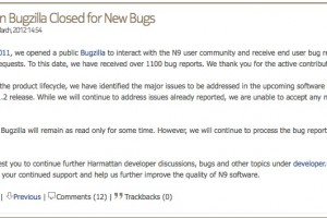 N9 Bugzilla closed for new bugs