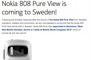 High demand sees Nokia 808 PureView coming to Sweden
