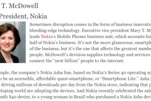 Vote for Nokia's Mary McDowell and The Next Billion project as reshaper of mobile industry