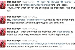 Smoked by Windows Phone, PR fail. Ben the PC guy to the rescue.