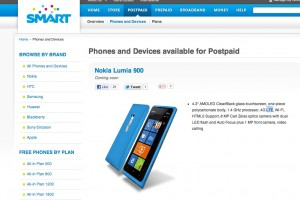 4G LTE Nokia Lumia 900 coming to SMART, Philippines.