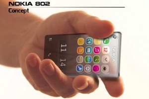 My Dream Nokia #48: Nokia 802, Symbian Concept Transparent phone.