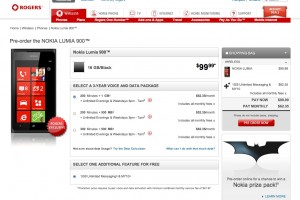 Rogers Canada Nokia Lumia 900 Pre Order available