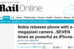 Mainstream media (Daily Mail UK) on the Nokia 808 PureView