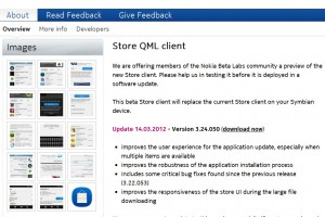 Nokia Store QML Client updated to v3.24.050 at Nokia Beta Labs