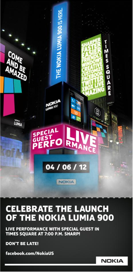 Nokia takes over Times Square for massive Nokia Lumia 900 launch
