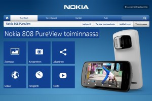 Nokia 808 PureView site with tiles, Coming soon in Finland?