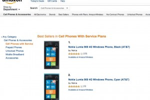 Nokia Lumia 900 Amazon US Best Sellers