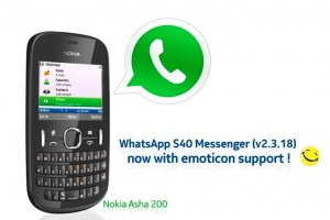 Whatsapp updated for S40 to V2.3.18