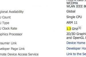 Nokia 700 processor details updated to 1.3GHz