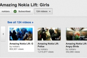 Nokia Russia's Amazing Nokia Lift videos going viral, in most viewed YouTube.