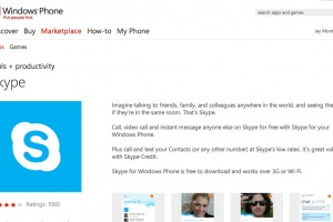 Skype for Windows Phone at Marketplace for your Lumia