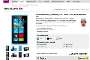Nokia Lumia 900 available for pre-order at DNA Finland