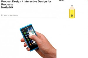 Nokia N9 wins Design and Art Direction award; coveted Yellow Pencil for interactive design.