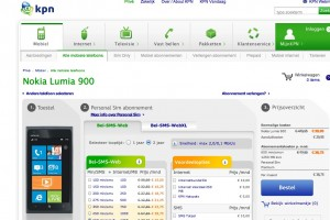 Nokia Lumia 900, available for pre-order at KPN Netherlands.