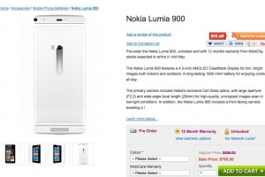 MobiCity lists Lumia 900 for pre-orders &#8211; Coming May 16th? Update: 808 listed &#8211; Coming May 21st?