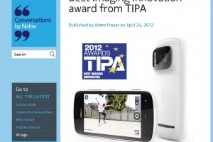 Nokia 808 PureView wins TIPA Best Innovation Award &#8211; Revolution in mobile imaging!