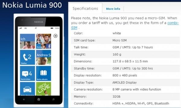 �����900 ���� 32 ���� (Lumia 900)