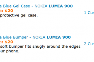 Cyan Lumia 900 Case Out of Stock; Sign of 900s Still Selling Strong?