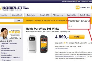 Nokia 808 PureView coming 4th June for Norway