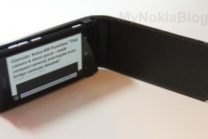Accessories: Leather Flip case for Nokia Lumia 800 (Luxury Alpha)