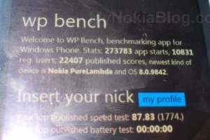 Nokia PureLambda with OS 8.0.9842, Nokia PurePhi, Nokia Phi and Nokia Alpha spotted on WP Bench?