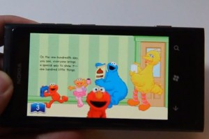 Lumiappaday #188: 100th Day Of School  demoed on the Nokia Lumia 800 (Elmo, Sesame Street)