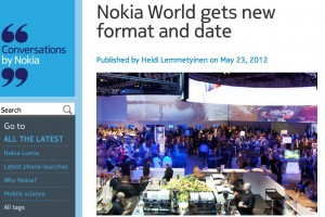 Nokia World 2012 taking place earlier! September 5-6 + change in format.