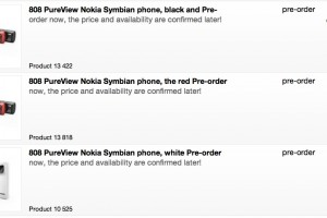 Nokia 808 PureView Black Pre-order price at verkkokauppa now 599.90EUR