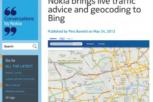 NokConv: Nokia brings live traffic advice and geocoding to Bing
