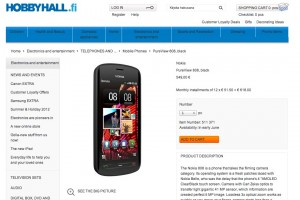 Nokia 808 PureView in Finland, HobbyHall for early June, India also for first week of june