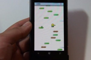 Lumiappaday #192: Doodle Jump demoed on the Nokia Lumia 800 XboxLive