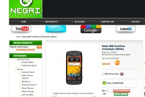Nokia 808 PureView in USA for 666.50USD (425GBP/532EUR)