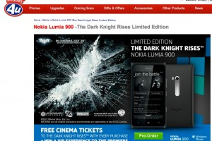 The Dark Knight Rises Limited Edition Batman Nokia Lumia 900 pre-order at Phones4U – win VIP tickets to Premiere!