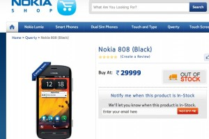 Nokia shop at IndiaTimes prices Nokia 808 PureView at 29,999INR