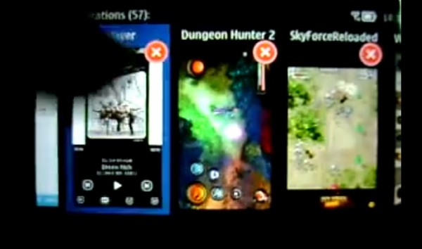 Video: Nokia 603, multitasking 57 apps on Belle FP1