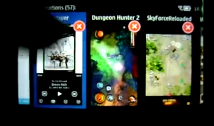 Video: Nokia 603, multitasking 57 apps on Belle FP1 | My