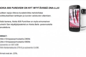 Nokia 808 PureView coming soon to Finland on Contract at DNA