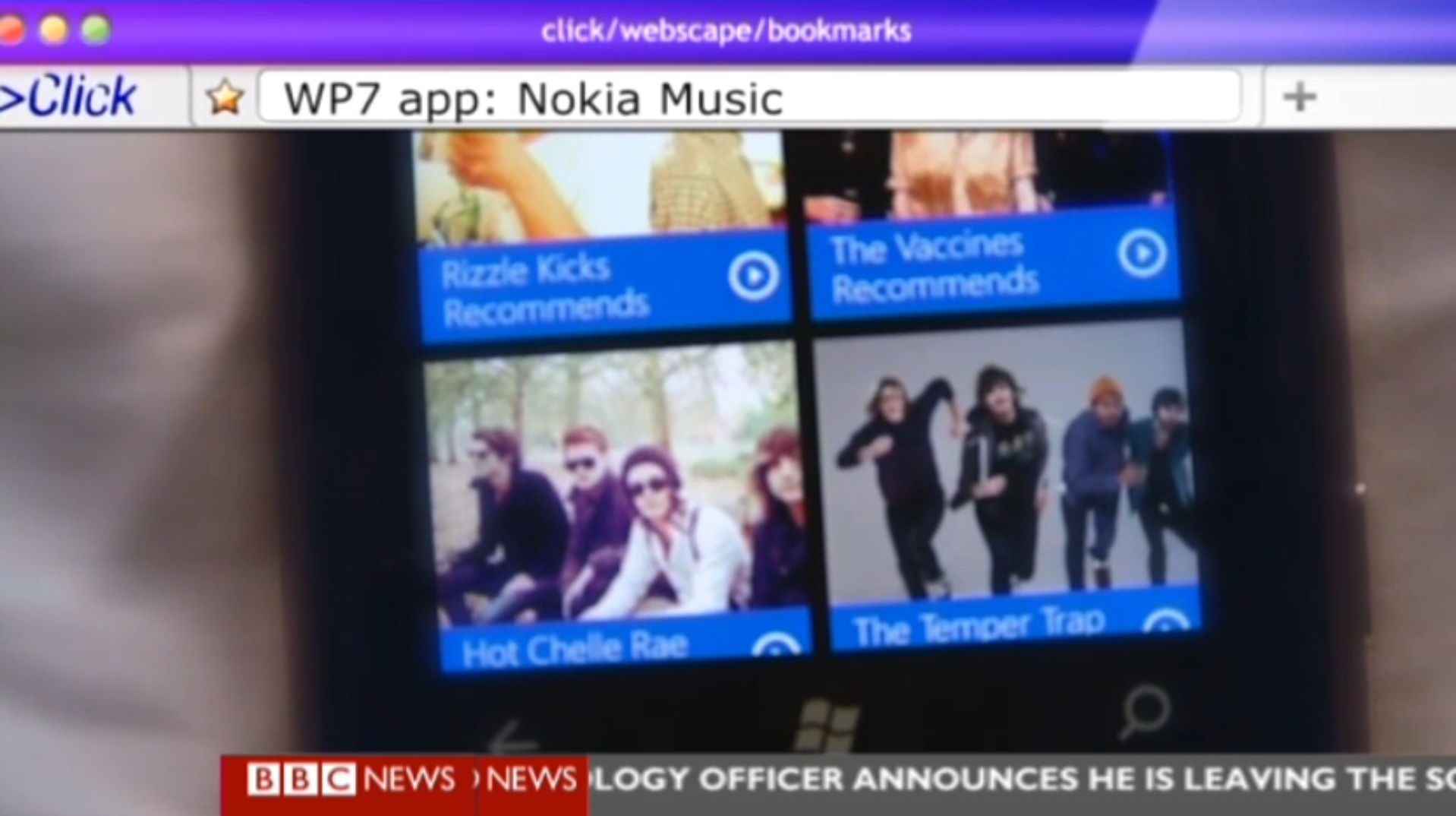 Nokia Lumia and Nokia Play 360 on BBC Click