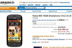 Nokia 808 PureView 8th June from Amazon Germany